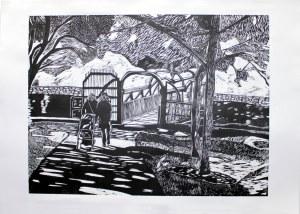 'Stroller' Woodblock Print 70 x 100cm
